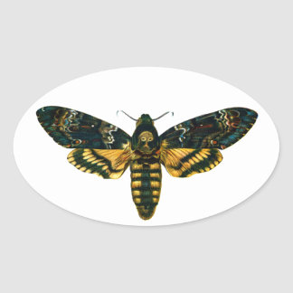 Death's Head Moth Oval Sticker