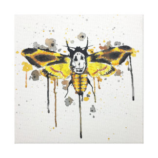 Deaths Head Moth splatterwork Canvas Print