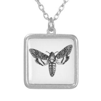 Death's-Head Moth Square Pendant Necklace