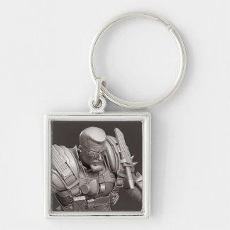 Deathstroke Alternate Silver-Colored Square Keychain