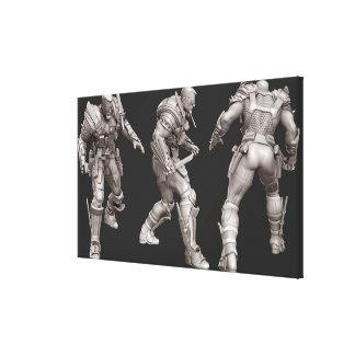 Deathstroke Alternate Turnaround Canvas Print