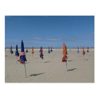 Deauville parasols postcard