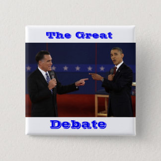 debate-number-21.jpg, The Great, Debate 2 Inch Square Button