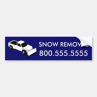 déblaiement de neige fait sur commande : camion de autocollant de voiture
