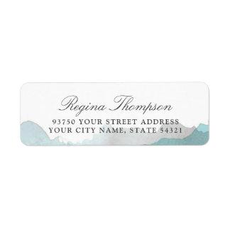 Debonair Turquoise Return Address Label