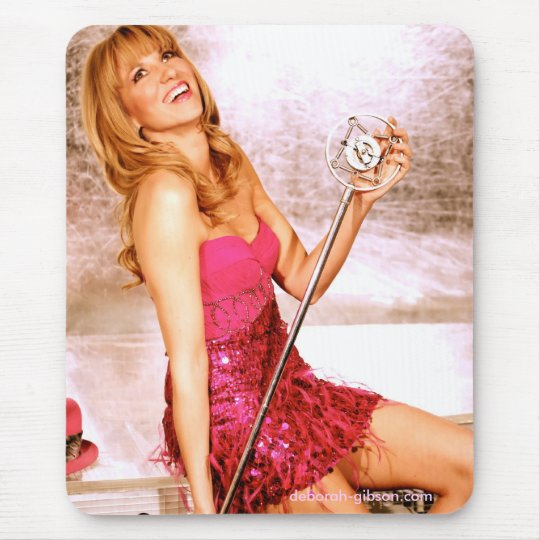 Deborah Gibson Microphone Mouse Pad