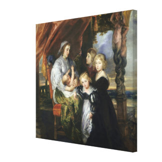 Deborah Kip and Her Children Gallery Wrapped Canvas