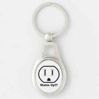 Débouché électrique drôle porte-clé ovale argenté