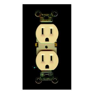 Débouchés électriques de compagnie d électricité d modèle de carte de visite