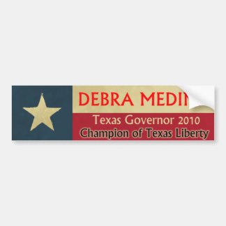 Debra Medina Governor 2010 Bumper Sticker