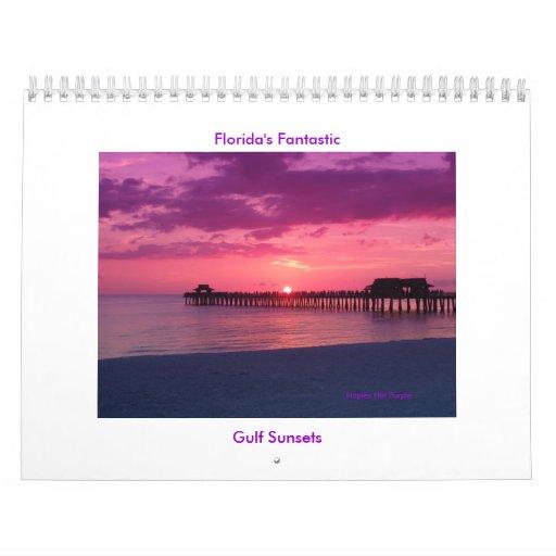 Debrene's Florida Gulf sets Wall Calendar