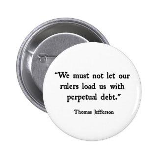 Debt 2 Inch Round Button