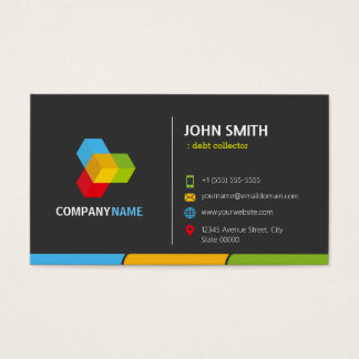 Debt Collector - Stylish Dark Colorful Business Card