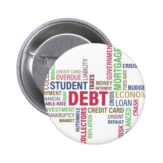 Debt-credit,loss 2 Inch Round Button