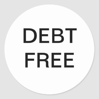 Debt Free Money Sticker