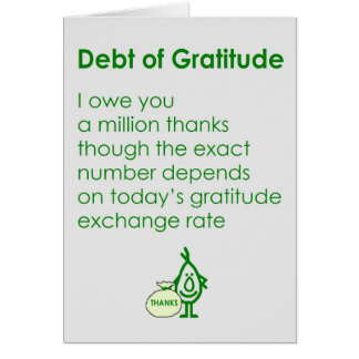 Debt of Gratitude Card