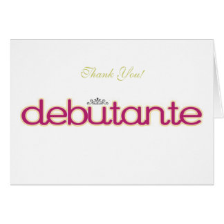 Debutante Collection ~ Blank Thank You Note Cards