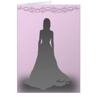 Debutante in Silhouette Thank You Card