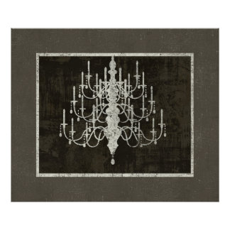 Decadence of Old Chandelier Art Print