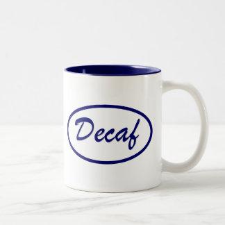 Decaf Name Patch Decaffeinated Two-Tone Mug