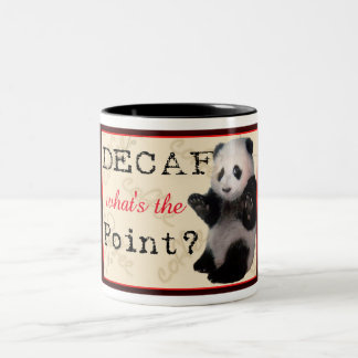 Decaf Panda Coffee Two-Tone Coffee Mug