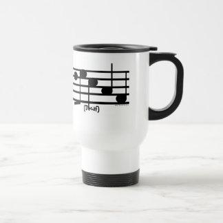 """Decaf"" Treble Clef Coffee/Tea Container Travel Mug"