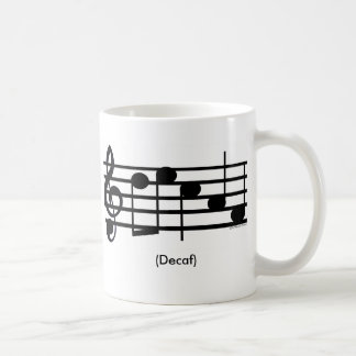 """Decaf"" Treble Clef Mug"