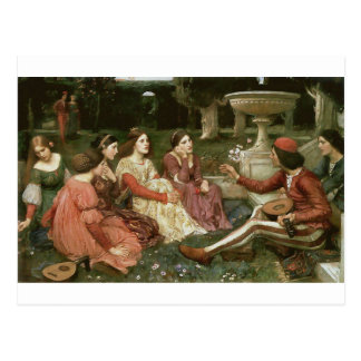 Decameron by John William Waterhouse (1916) Postcard