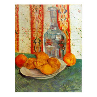 Decanter and Lemons by Vincent van Gogh Postcard