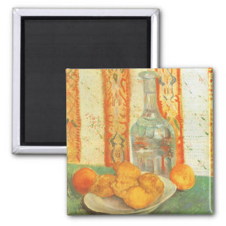 Decanter and Lemons on a Plate by Vincent van Gogh Magnet