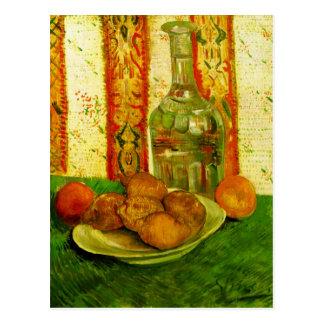 Decanter Lemons & Plate Van Gogh Fine Art Postcard