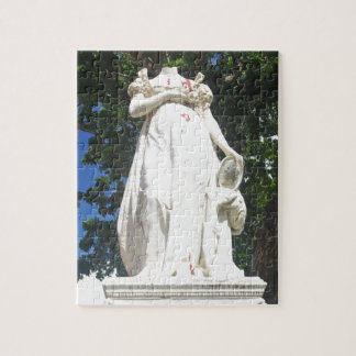 Decapitated statue in Martinique Jigsaw Puzzle
