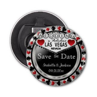 Décapsuleur Sauvez le style de Las Vegas de date - argent et