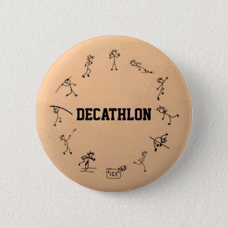 Decathlon Stickman Track and Field Athletics 2 Inch Round Button
