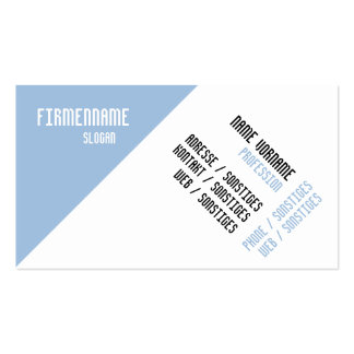 Decay blue business card