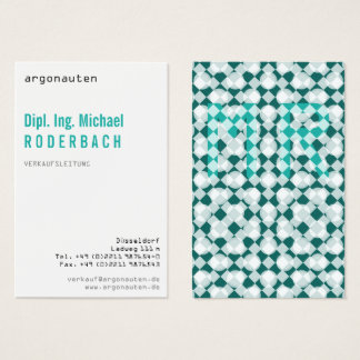 Decay, freshly, with Monogram for Angeber Business Card