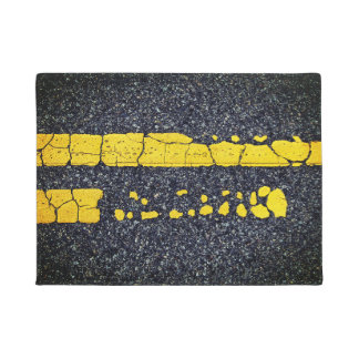 Decayed Double Yellow Line Doormat