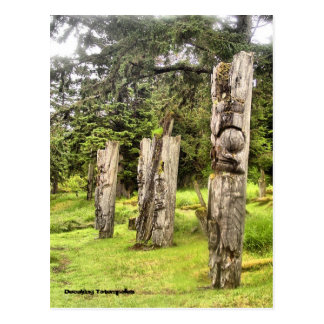 Decaying Totempoles Postcard