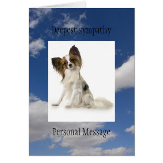 Deceased dog in loving memory Papillon breed Card