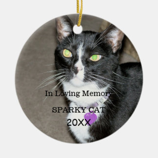 Deceased Pet Memorial Ceramic Ornament