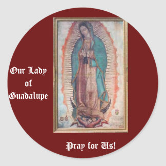 December 12   Our Lady of Guadalupe Round Sticker