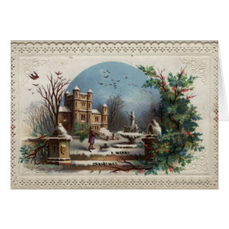 December 1872: The gardener collects holly Card