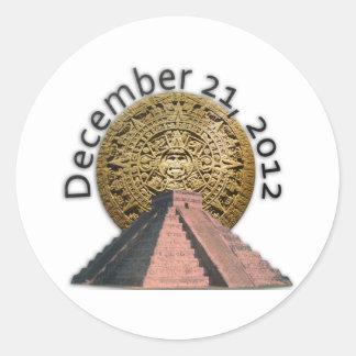 December 21, 2012 Mayan Calendar Classic Round Sticker