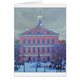 December at Faneuil Hall Card