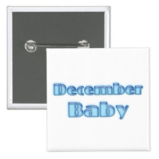 December Baby 2 Inch Square Button