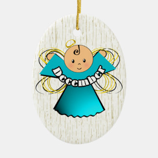 December Birthday Angel Ceramic Ornament