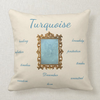 December Birthstone Turquoise Fairy Throw Pillow