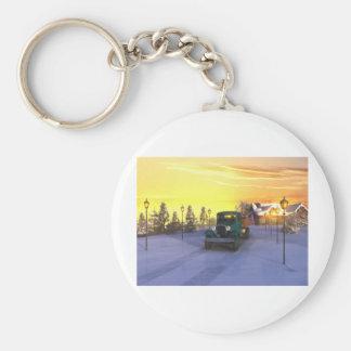 December Morning Basic Round Button Keychain