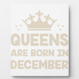 December Queen Plaque