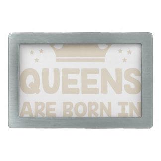 December Queen Rectangular Belt Buckle